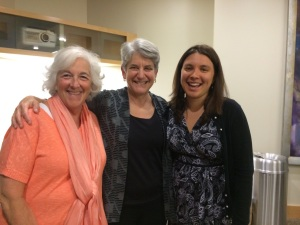 Co-founder Barbara Friedman, Secretary of Elder Affairs Ann Hartstein, and co-founder Elana Kieffer